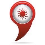 Sun stylized image icon Royalty Free Stock Image