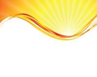 Sun su priorità bassa gialla Fotografie Stock Libere da Diritti