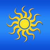 Sun su un cielo blu Fotografie Stock