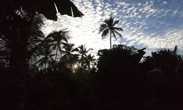 Sun sube en Sri Lanka Fotografía de archivo