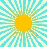 Sun sui precedenti del cielo Fotografia Stock Libera da Diritti