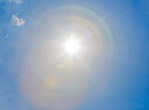 Sun sul cielo Fotografia Stock Libera da Diritti