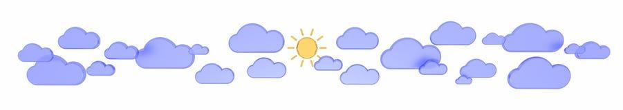 Sun sul cielo Immagini Stock Libere da Diritti