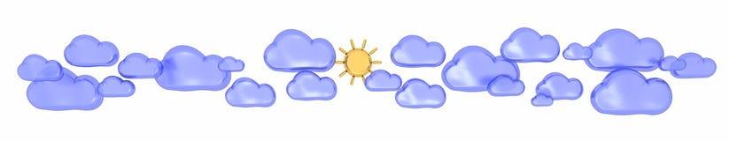 Sun sul cielo Immagine Stock