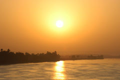 Sun sul Nilo fotografie stock