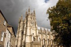 Sun sulla cattedrale Immagini Stock