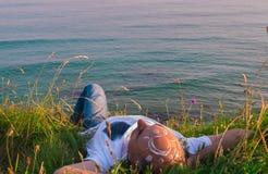 Sun sulla fronte fotografia stock libera da diritti