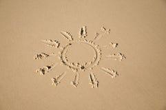 Sun sulla sabbia Fotografia Stock