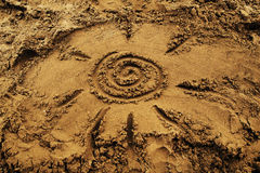 Sun sulla spiaggia Fotografia Stock Libera da Diritti
