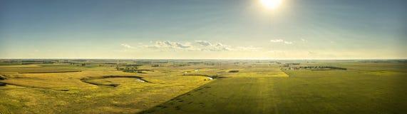 Sun sulle pianure del Sud Dakota Fotografie Stock Libere da Diritti