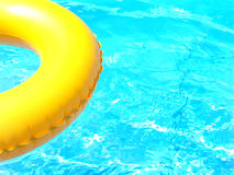 Sun of summer. A yellow buoy is coming, the sunnies holidays are there stock image