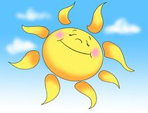 Sun in summer stock illustration