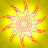 Sun and summer heat. Swirl  design. Warming season sweltering hot sun. Background yellow . Pattern midday. Global sunbeam sunshine. Temperature sunlight summer Royalty Free Stock Photo
