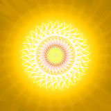 Sun and summer heat. Swirl  design. Warming season sweltering hot sun. Background yellow . Pattern midday. Global sunbeam sunshine. Temperature sunlight summer Royalty Free Stock Image