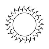 Sun summer isolated icon Stock Image
