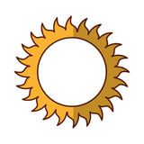 Sun summer isolated icon Royalty Free Stock Images