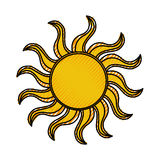 Sun summer isolated icon. Vector illustration design Royalty Free Stock Images