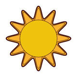 Sun summer isolated icon Royalty Free Stock Photography