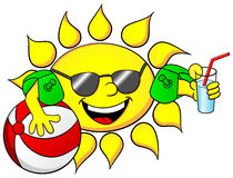 Sun on summer vacation Royalty Free Stock Photography