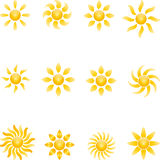 Sun, Sun collection, 3D, logo Royalty Free Stock Images