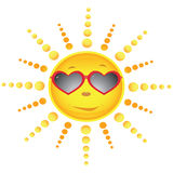 Sun in the sun glasses Royalty Free Stock Images