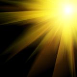 Sun and Sun rays Royalty Free Stock Photo
