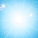 Sun and sunbeams Royalty Free Stock Photography