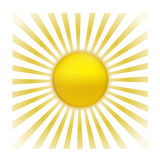 Sun with sunburst Royalty Free Stock Images