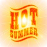 Sun Sunburst Pattern. Hot Summer text Royalty Free Stock Image