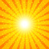 Sun Sunburst Pattern. Vector illustration Stock Photography