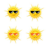 Sun with sunglass vector illustration Royalty Free Stock Images