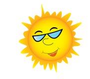 Sun with sunglasses Stock Image
