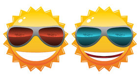 Sun in sunglasses Royalty Free Stock Photo