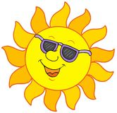 Sun with sunglasses Stock Photography