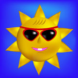 Sun with Sunglasses Icon Stock Photos