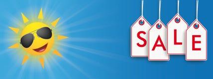 Sun Sunglasses Price Stickers Sale Header Stock Photo