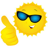 The sun in sunglasses Royalty Free Stock Image