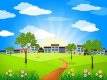 Sun Sunny Indicates Green Grass And-Gazon Royalty-vrije Stock Foto's