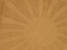 A sun with sunrays in the sand Royalty Free Stock Photo