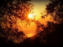 Sun, Sunset, Sea, Water, Corfu Royalty Free Stock Image