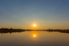 Sun on sunset sky Royalty Free Stock Photography