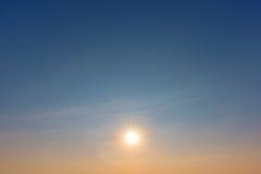 Sun on sunset sky Royalty Free Stock Photos