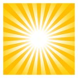 Sun or Sunshine symbol with beams as vector on a isolated background. Sun or Sunshine vector with beams on a white isolated background in different yellow and vector illustration