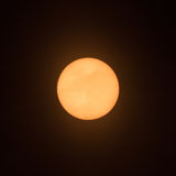 Sun sunspot-4. Sun with sunspot at 3 o`clock with clouds Royalty Free Stock Images