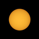 Sun with sunspots seen with telescope Royalty Free Stock Photos