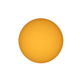 Sun with sunspots seen with telescope Stock Images