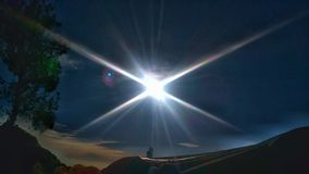 Sun suny day. Sunlight start effect Royalty Free Stock Images