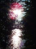 Sun sur l'eau Ciel Sun Lac photo libre de droits