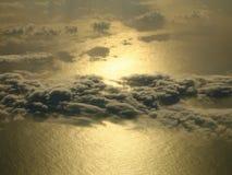 Sun sur la mer Photos libres de droits