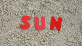 Sun sur la plage Photographie stock